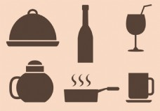 厨房餐厅工具图标