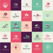 五角星环保企业餐饮行业logo标志徽章