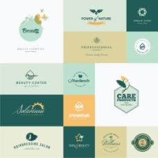 黄色环保企业餐饮行业logo标志徽章