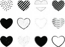 分割爱心边框矢量素材