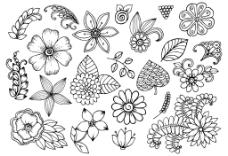 树叶桂冠矢量插画设计