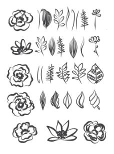 树叶桂冠矢量插画设计装饰素材