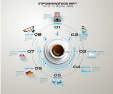 手绘元素与信息图创意设计矢量
