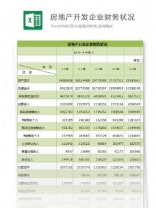 房地产开发企业财务状况excel模板表格