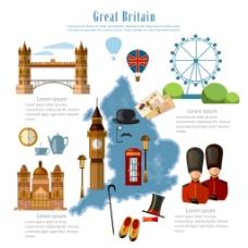 英国特色旅行插画