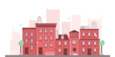 城市景观插画