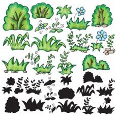 手绘水彩植物插画