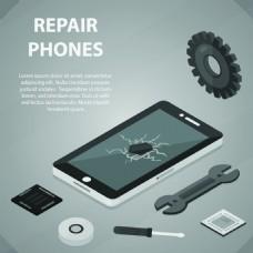 齿轮扁平化高新科技产品宣传