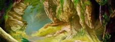 枯树林banner背景