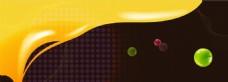 黄褐色圆点banner背景