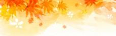 金色树叶banner背景