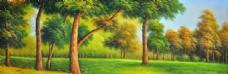 唯美树林banner背景