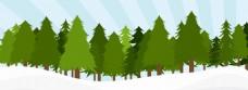 绿色树林banner背景