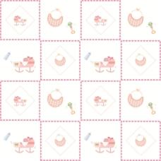 可爱粉色格子背景图