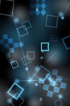 炫彩几何光圈蓝色背景