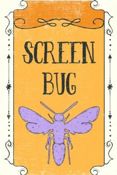 矢量昆虫设计素材