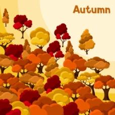 秋天枫树植物背景