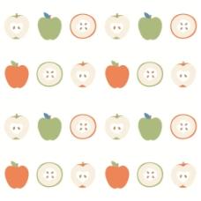 可爱苹果无缝背景图