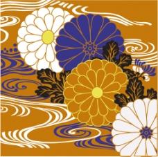 彩色中式花纹背景图