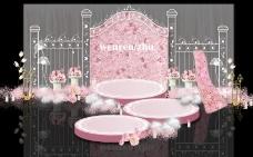 浪漫粉色婚礼效果图