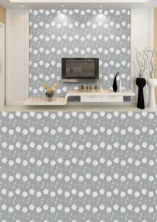 现代简约灰白花纹底纹精致温馨淡雅背景墙