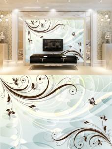 现代花纹背景墙