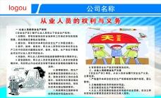 作业人员权利与义务展板图片素材