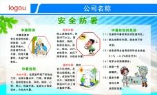 安全防暑展板图片素材