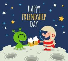 外星人宇航员的快乐友谊