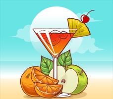 水果鸡尾酒图案