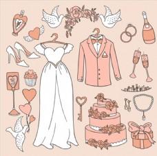手绘婚礼元素