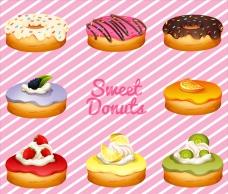 不同口味的甜甜圈