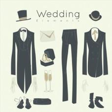 新郎穿着的婚礼礼服
