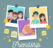 有照片的友谊日插图
