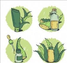 手绘芦荟产品系列