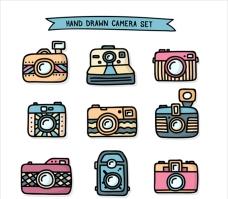 手绘摄影相机
