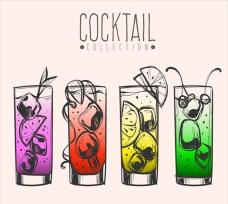 五颜六色的鸡尾酒