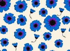 卡通蓝色向日葵背景图