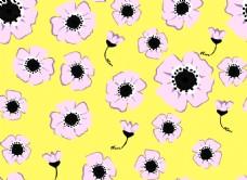 卡通黄色向日葵背景图