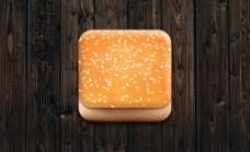 面包食物立体图标设计