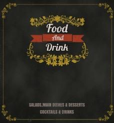 矢量餐厅文字排版宣传海报EPS素材