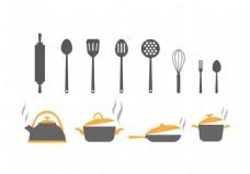 厨房工具矢量素材