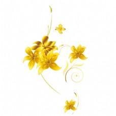 金色花朵png免扣元素