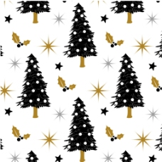 圣诞树矢量背景