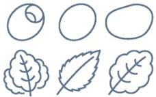菜叶线条小图标
