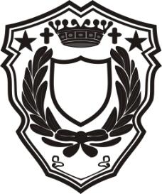 黑白盾牌图标元素