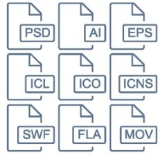 PSD软件线条小图标
