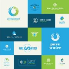 环保行业logo标志徽章
