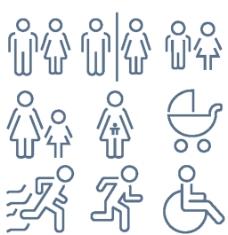 残疾人小图标