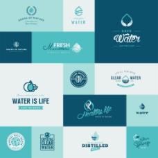 手掌环保企业餐饮行业标志徽章